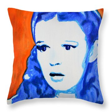 Judy Garland Dorothy Wizard Of Oz Throw Pillow by Bob Baker