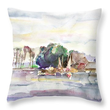 Juergenshof After Sunset Throw Pillow by Barbara Pommerenke
