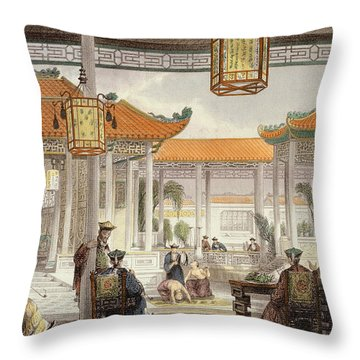 Jugglers Exhibiting In The Court Throw Pillow