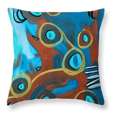 Juggling Act Throw Pillow by Donna Blackhall