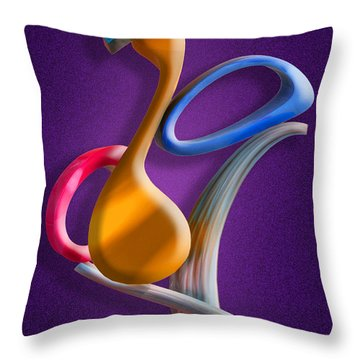 Juggling Act Throw Pillow by Paul Wear