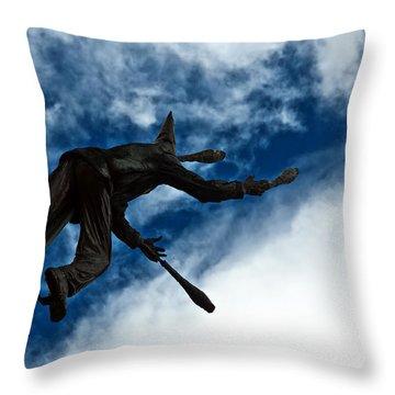 Juggling Statue Throw Pillow by Jess Kraft