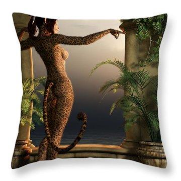 Throw Pillow featuring the digital art Juguar Girl by Kaylee Mason