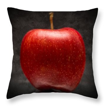 Throw Pillow featuring the photograph Juicy Red Apple by Aaron Berg