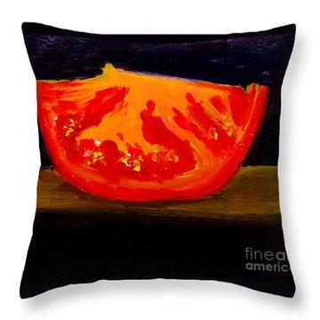 Juicy Tomato Modern Art Throw Pillow