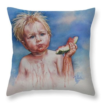 Juicy Throw Pillow