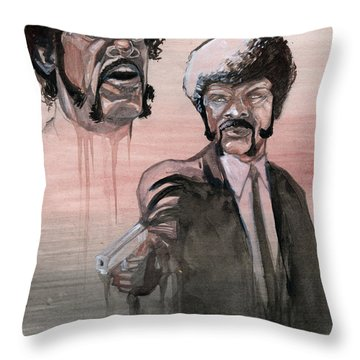 Jules Bamf Throw Pillow by Jimmy Adams