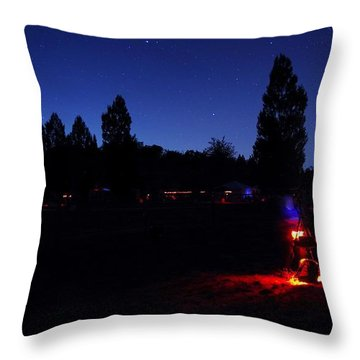 Julian Night Lights 2013 Throw Pillow