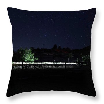 Julian Night Sky Throw Pillow