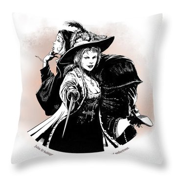 Julie D' Aubigny Throw Pillow
