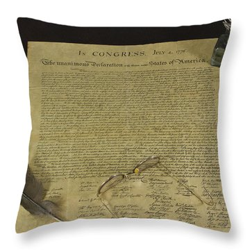 July 4 1776 Throw Pillow by Jack R Perry