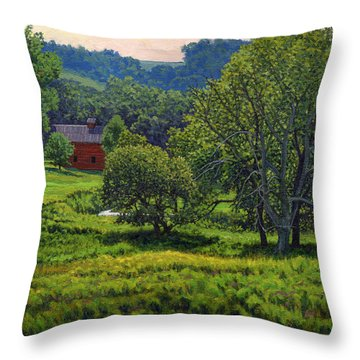 July Summer Mid Afternoon Throw Pillow