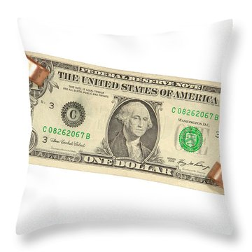 Jump Starting The Economy Throw Pillow by Olivier Le Queinec