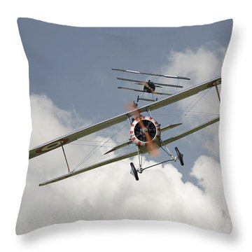 Jumped Throw Pillow by Pat Speirs