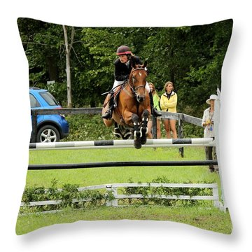 Jumping Eventer Throw Pillow