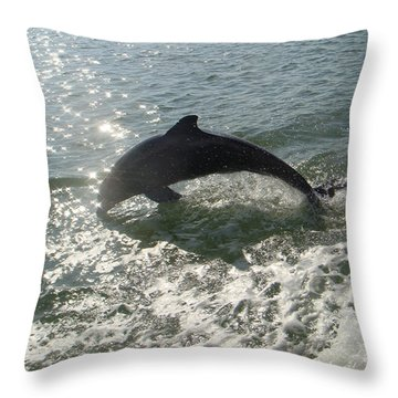 Throw Pillow featuring the photograph Jumping For Joy by Karen Zuk Rosenblatt