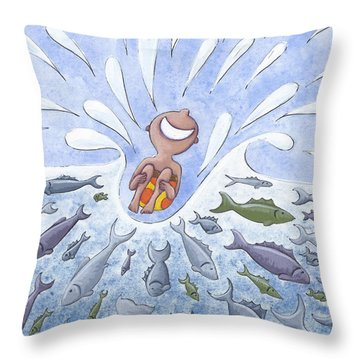 Bathroom Art Throw Pillows