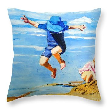 Jump'n Jack And Jill Throw Pillow