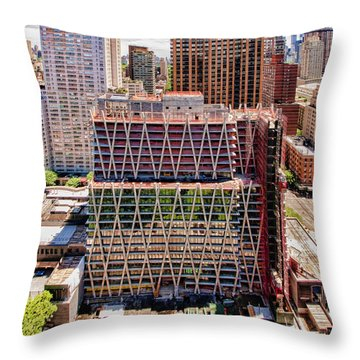 Jun2014rearwideabove Throw Pillow by Steve Sahm