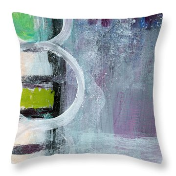 Junction- Abstract Expressionist Art Throw Pillow