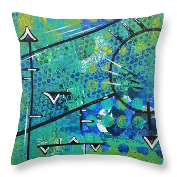 Juncture Throw Pillow by Moon Stumpp