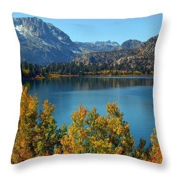 Throw Pillow featuring the photograph June Lake Blues And Golds by Lynn Bauer