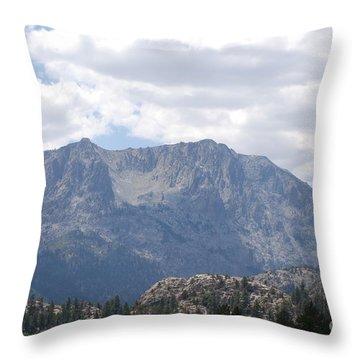 June Lake Range Throw Pillow by George Mount