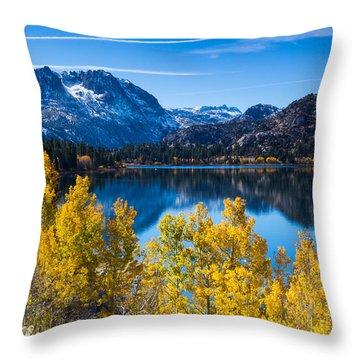 June Lake Throw Pillow by Tassanee Angiolillo
