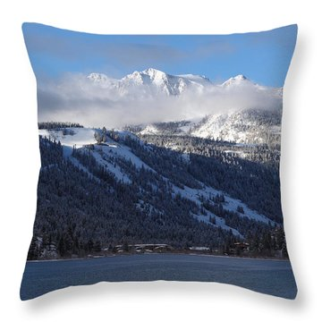 June Lake Winter Throw Pillow