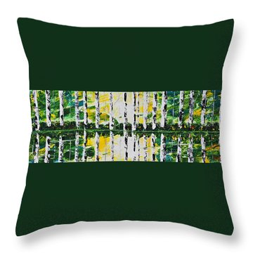 June Throw Pillow by Patricia Olson