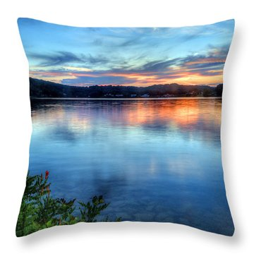 Throw Pillow featuring the photograph June Sunset by Jaki Miller