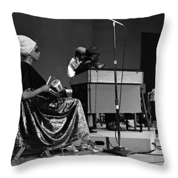June Tyson 1968 Throw Pillow by Lee  Santa