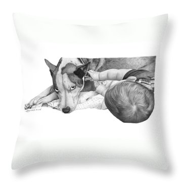 Juneau And James -031 Throw Pillow by Abbey Noelle