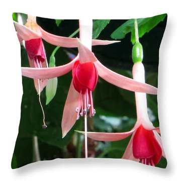 Throw Pillow featuring the photograph Juneau Glacier Gardens Fuchsia by Jennifer Wheatley Wolf