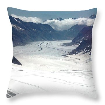 Jungfrau Glacier Throw Pillow