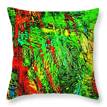Jungle Beat Throw Pillow