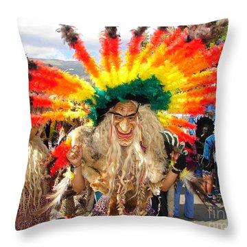 Jungle Dancer Throw Pillow by Lew Davis