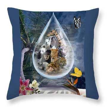 Jungle Drop Throw Pillow