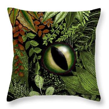 Jungle Eye Throw Pillow by Carol Jacobs