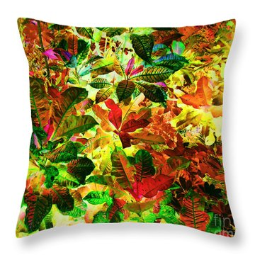 Throw Pillow featuring the photograph Jungle Fantasy by Ann Johndro-Collins