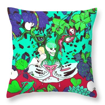 Throw Pillow featuring the digital art Jungle Fever 4 by Stephanie Grant