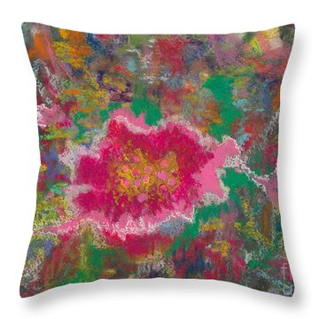 Jungle Flower Throw Pillow