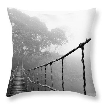 Jungle Journey 5 Throw Pillow by Skip Nall