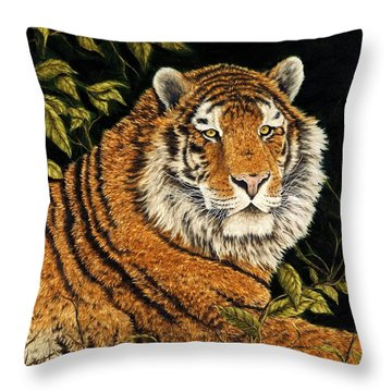 Jungle Monarch Throw Pillow by Rick Bainbridge