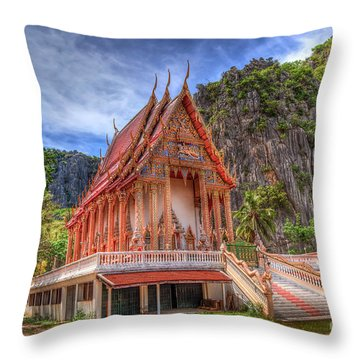 Jungle Temple V2 Throw Pillow by Adrian Evans