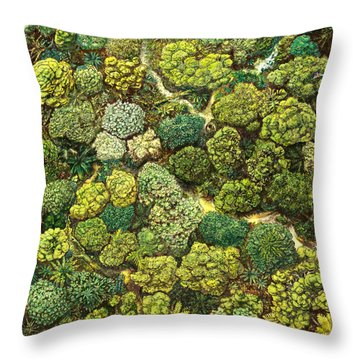 Jungle View Throw Pillow