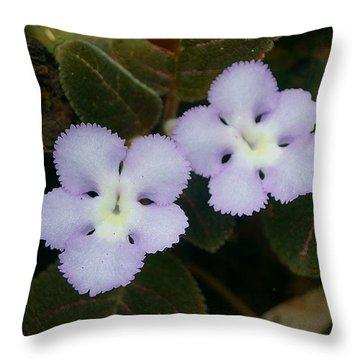 Jungle Wildflower Throw Pillow