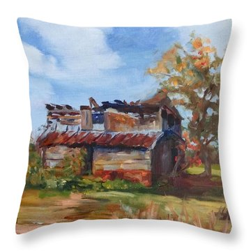 Junior Johnson Lived Here Throw Pillow by Carol Berning