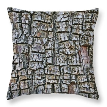Throw Pillow featuring the photograph Juniper Bark- Texture Collection by Tom Janca