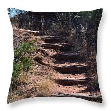 Juniper Ridge Steps Throw Pillow